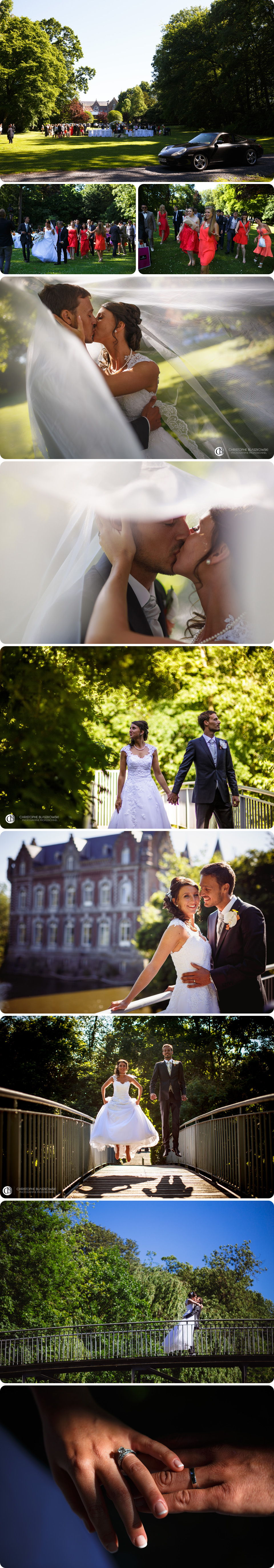 Photo de couple au chateau de bourgogne